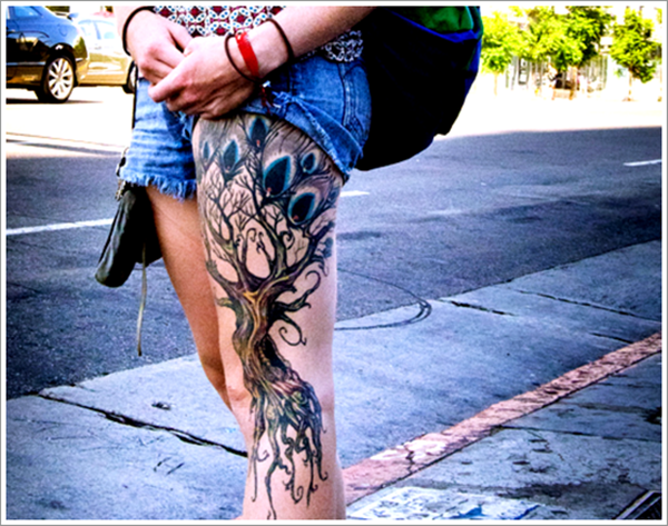 Upper Thigh Tattoos For Girls (1)