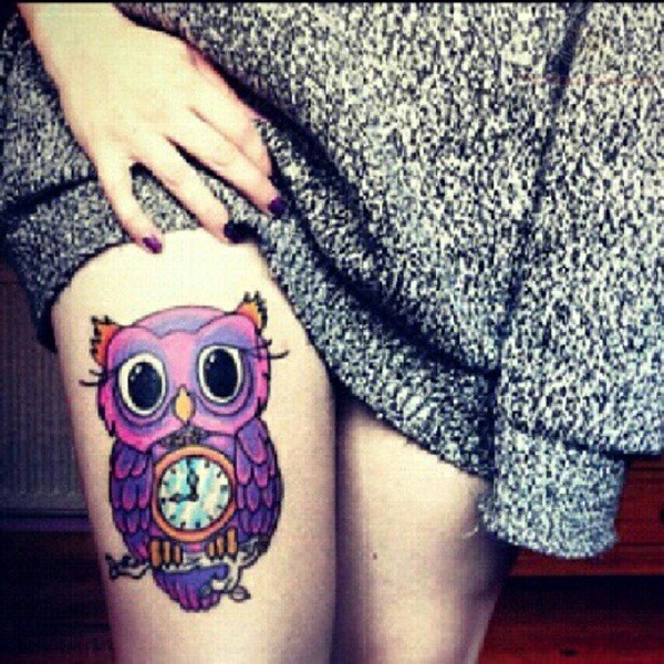Upper Thigh Tattoos For Girls (19)