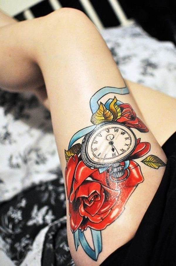 Upper Thigh Tattoos For Girls (26)