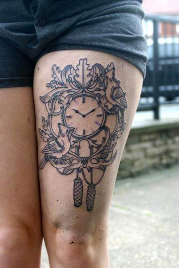 Upper Thigh Tattoos For Girls (28)