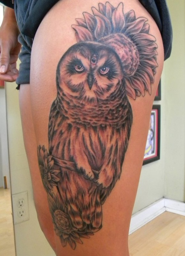 Upper Thigh Tattoos For Girls (29)