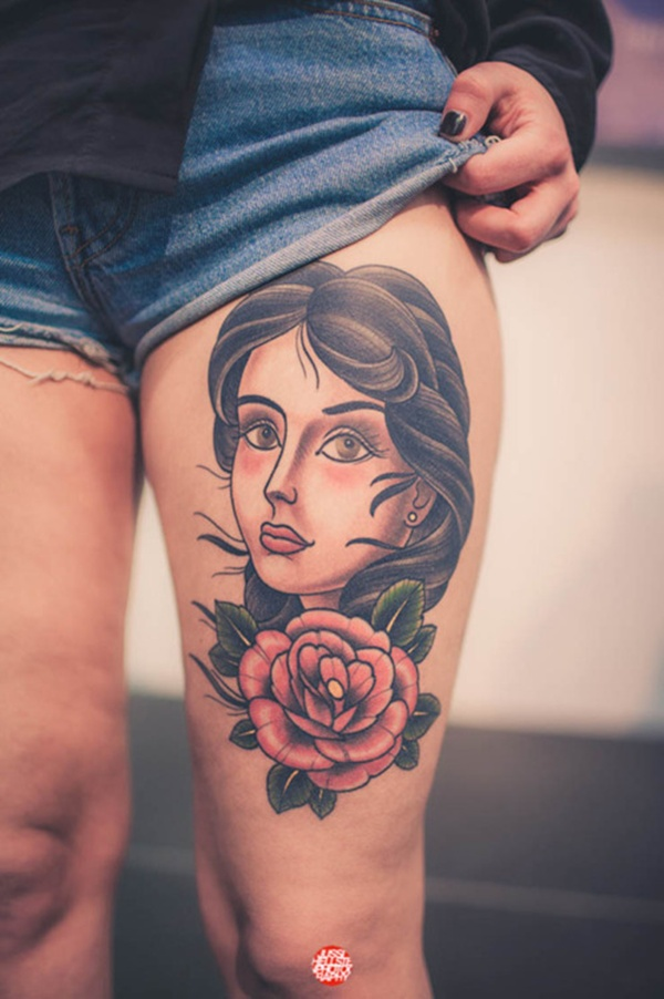 Upper Thigh Tattoos For Girls (3)