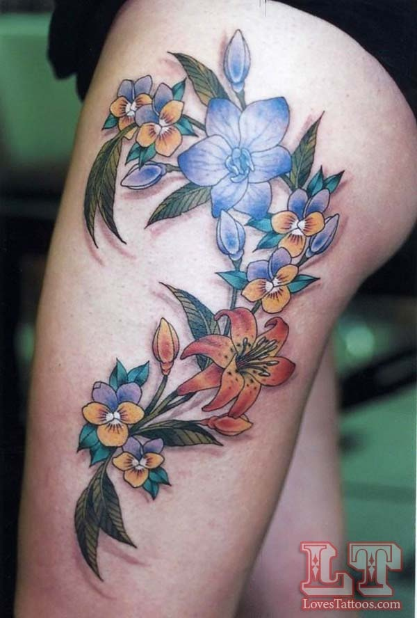 Upper Thigh Tattoos For Girls (4)