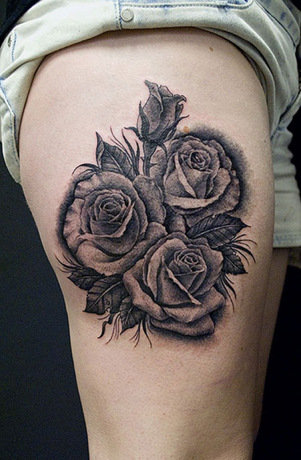 Upper Thigh Tattoos For Girls (5)