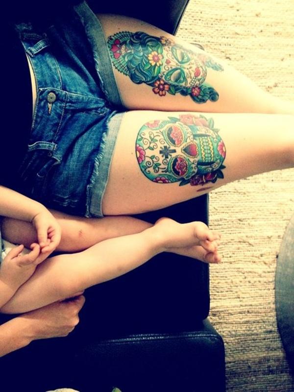 Upper Thigh Tattoos For Girls (9)