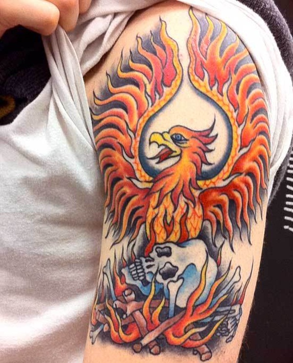 phoenix tattoo meaning and Designs For Men and Women (43)