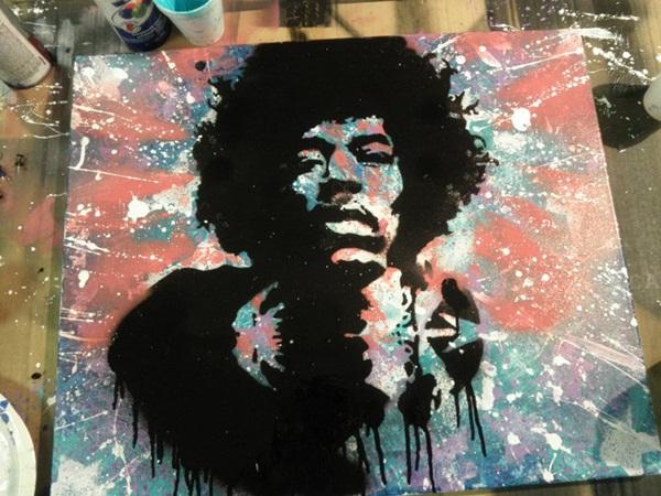 Jimi Hendrix Canvas #2