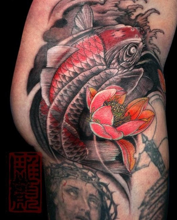 Koi tattoo meaning and Designs For Men and Women (21)