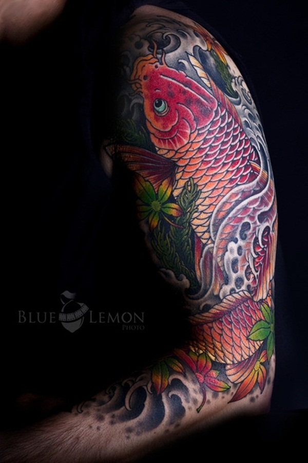 Koi tattoo meaning and Designs For Men and Women (26)