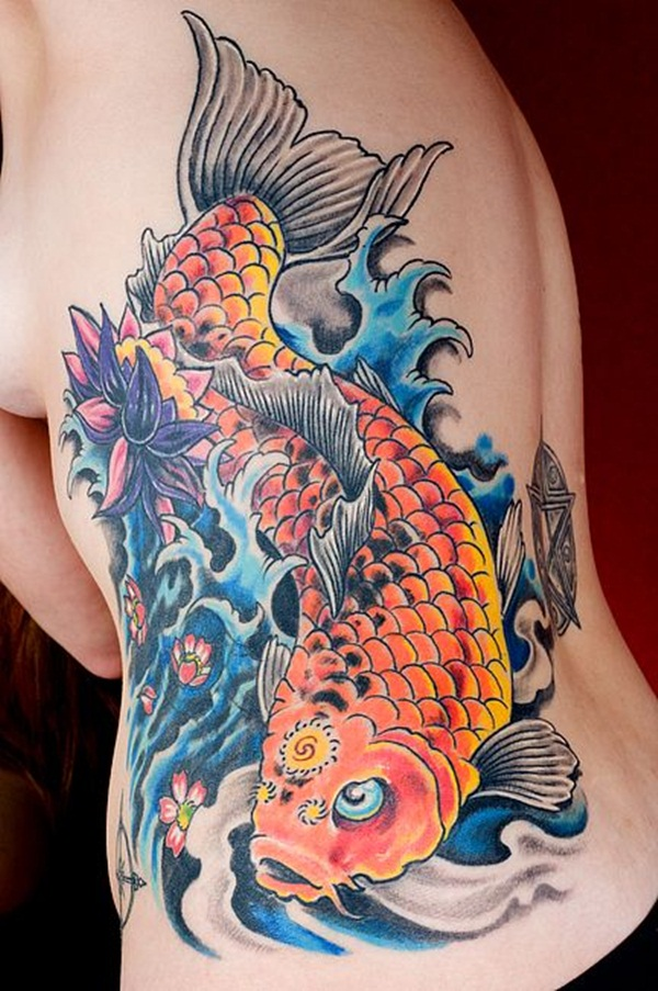 Koi tattoo meaning and Designs For Men and Women (33)
