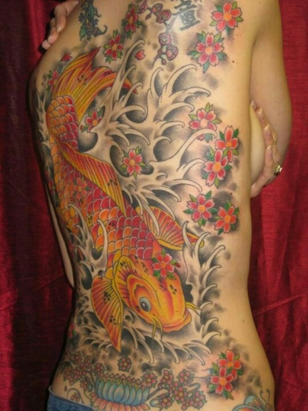 Koi tattoo meaning and Designs For Men and Women (9)
