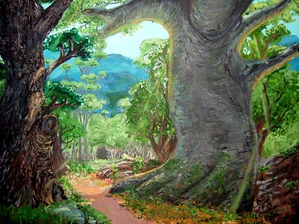 Rapunzel forest - canvas