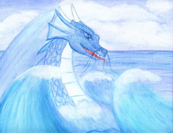 Sea Dragon Canvas Painting