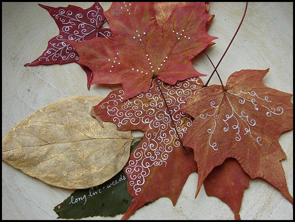 Examples Of Leaf Painting (13)