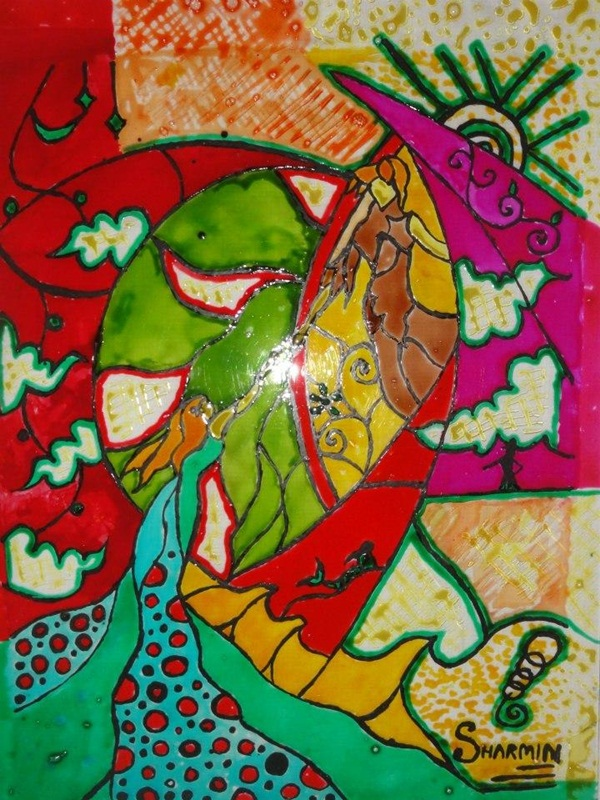 Glass Painting Pattern Ideas and Designs (13)