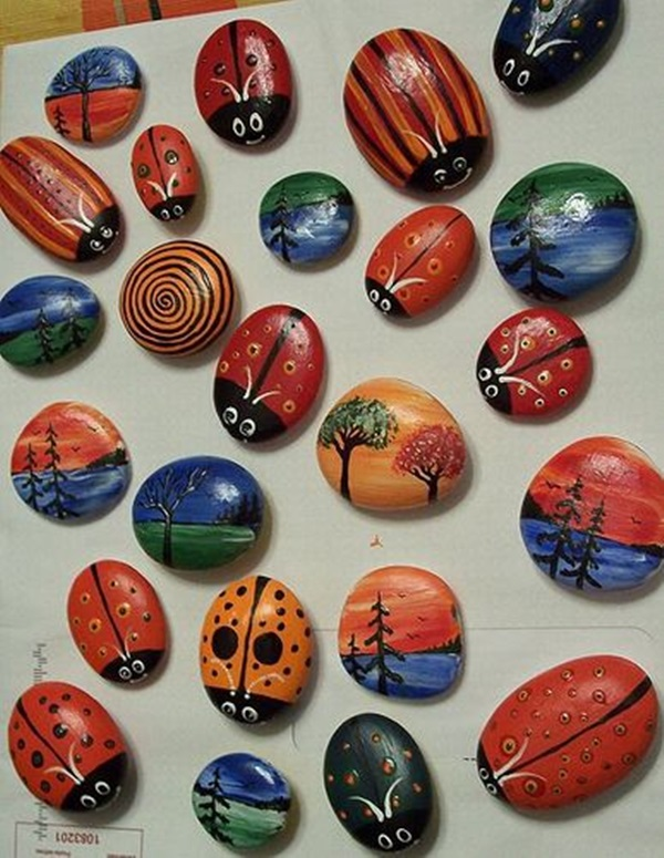 Pictures of painted rocks (14)