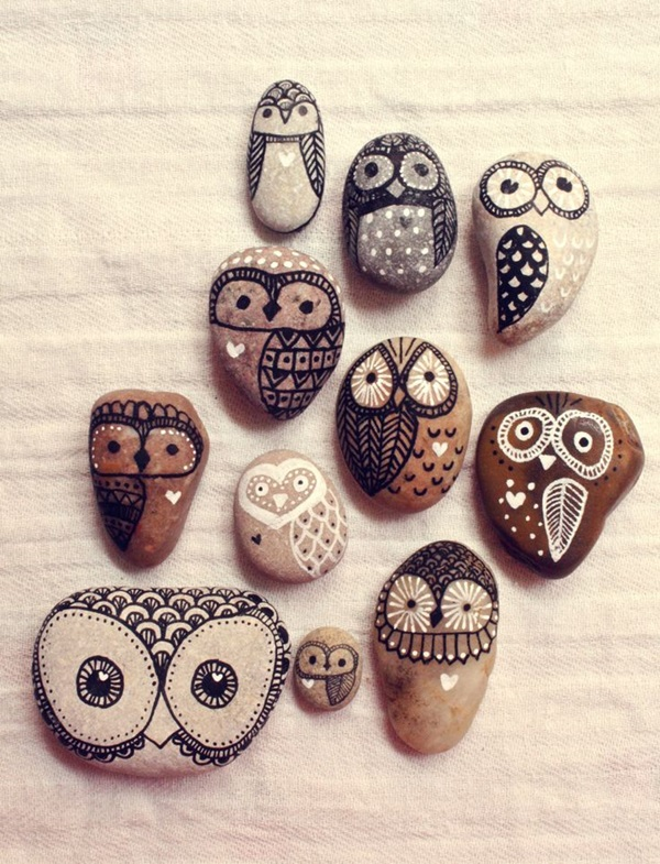 Pictures of painted rocks (30)