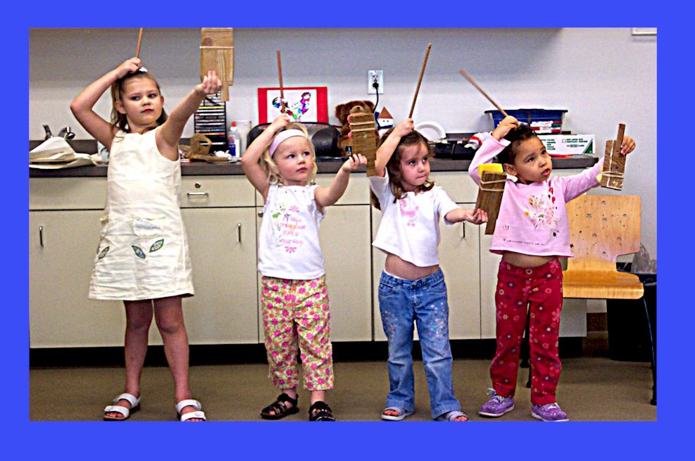 children learning dancing