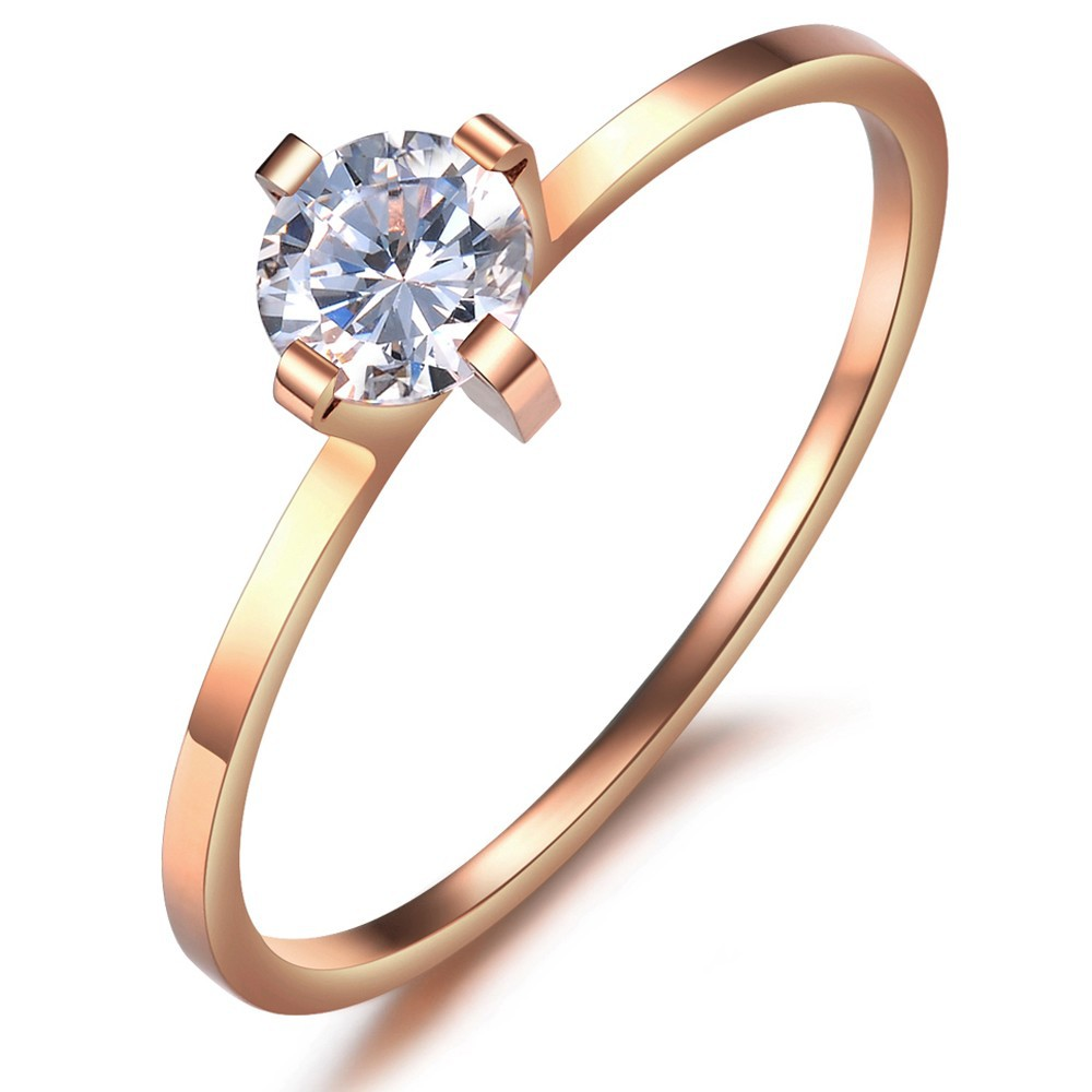 OPK-JEWELRY-Titanium-Steel-Rose-Gold-Plated-women-wedding-bands-ring-Cubic-Zircon-Big-CZ-Diamond