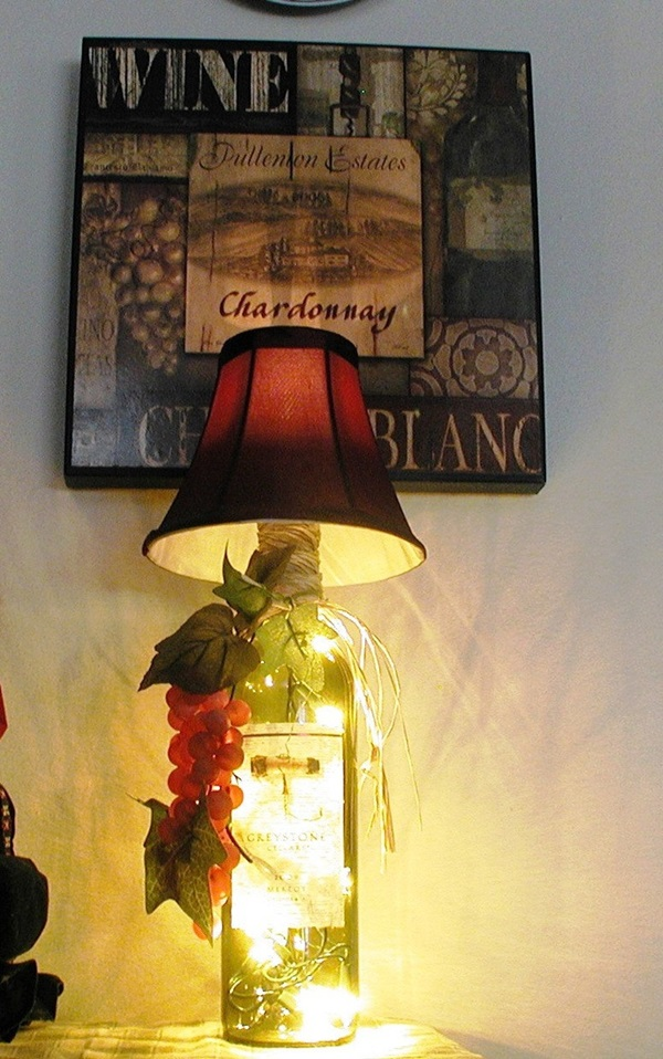 Beautiful Wine Bottle lamps  (25)