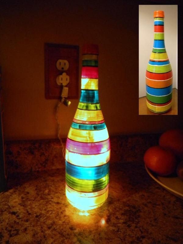 Beautiful Wine Bottle lamps  (3)