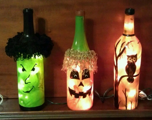 Beautiful Wine Bottle lamps  (30)