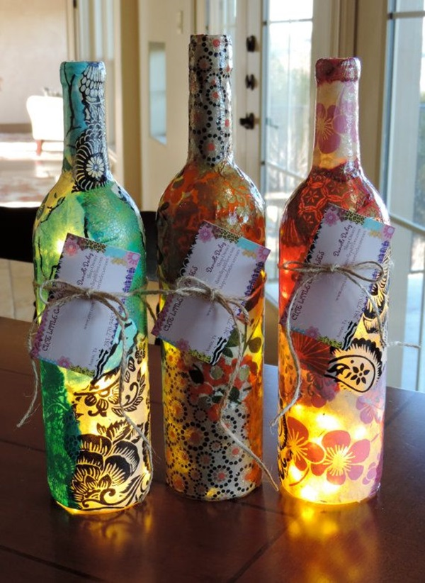 Beautiful Wine Bottle lamps  (5)