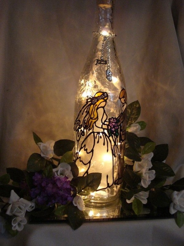 Beautiful Wine Bottle lamps  (9)