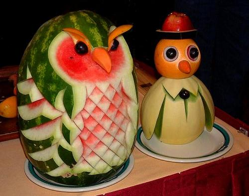 fruit vegetable carving 4
