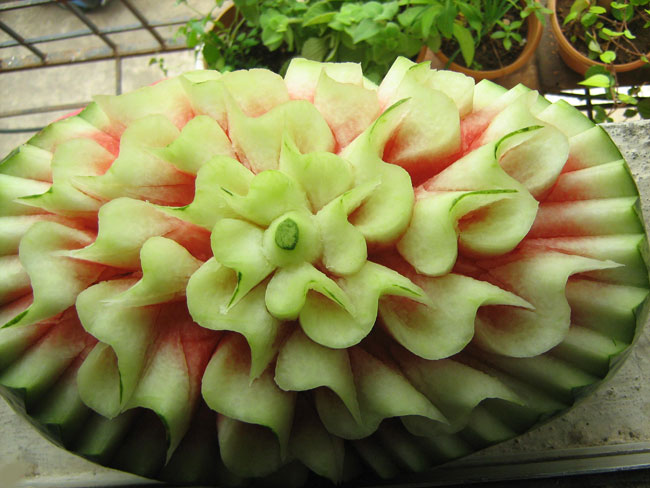 fruit vegetable carving 5