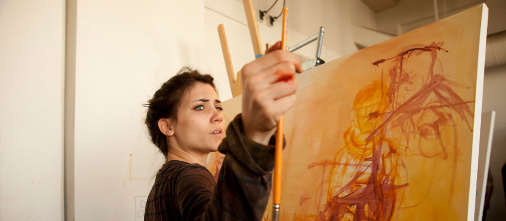 woman painting art