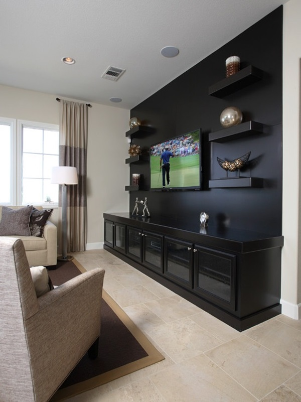 Ways to Decorate the TV wall (10)