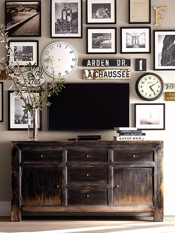 Ways to Decorate the TV wall (17)