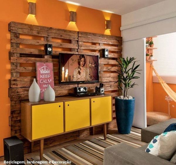 Ways to Decorate the TV wall (31)