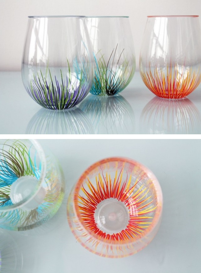 painting on glass objects 1