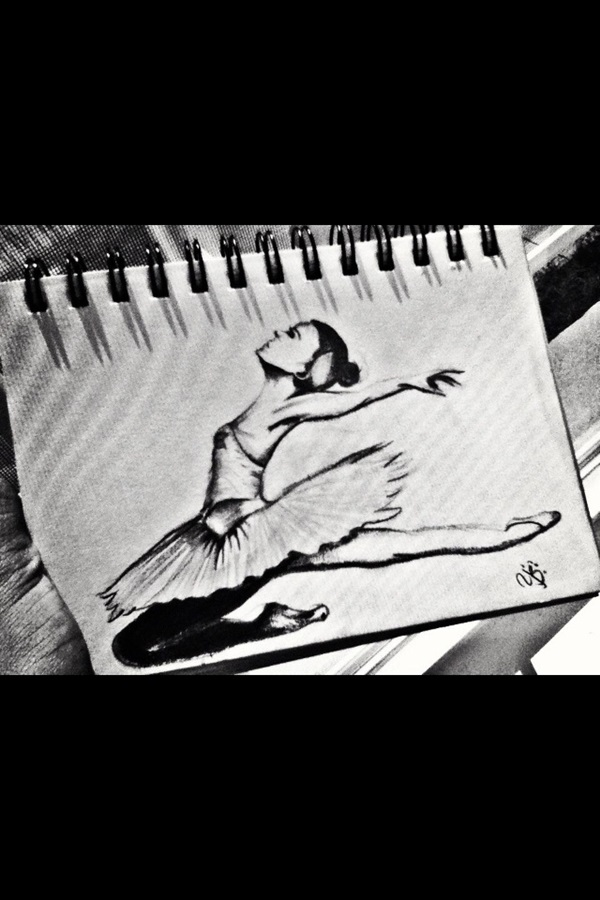 Stunning Ballerina drawings and sketches (18)