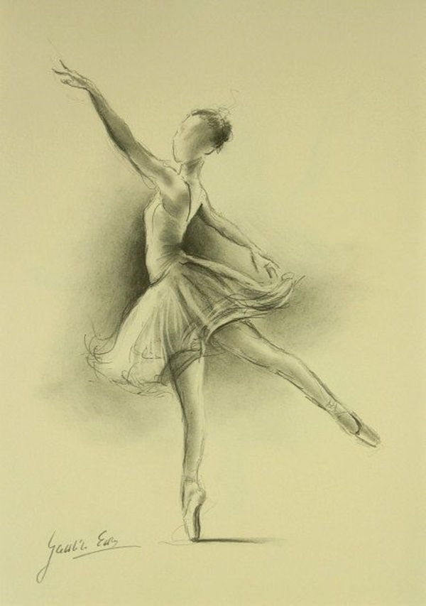 Stunning Ballerina drawings and sketches (40)