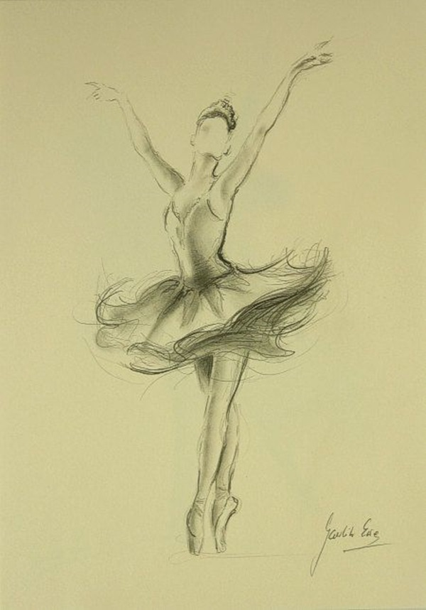 Stunning Ballerina drawings and sketches (41)