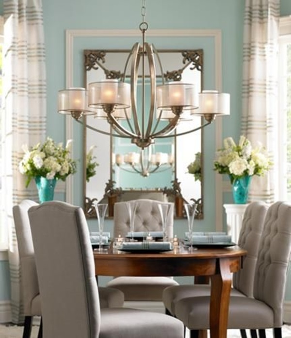 Tasteful Dining Room Lighting  (1)