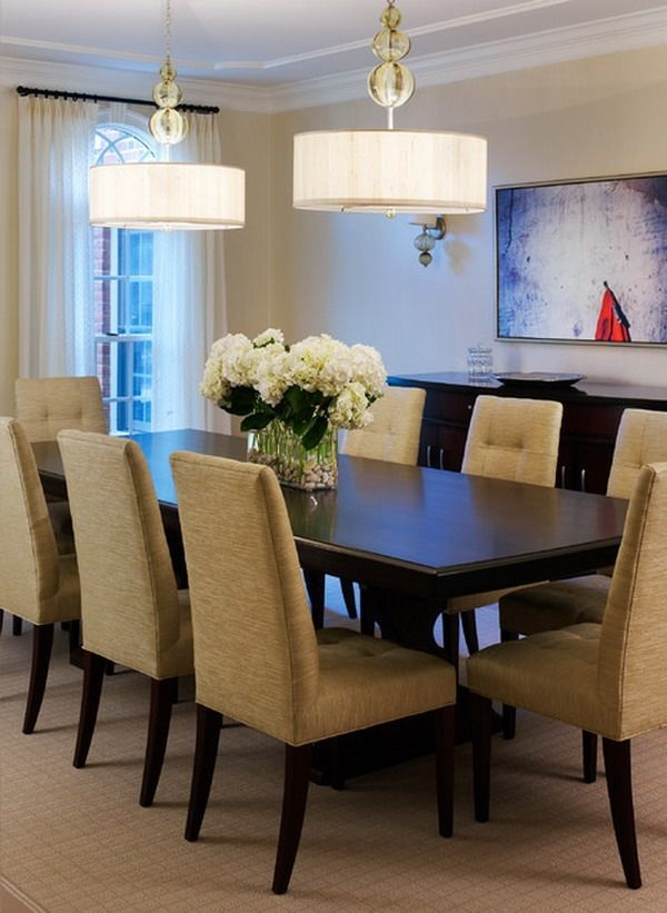Tasteful Dining Room Lighting  (14)