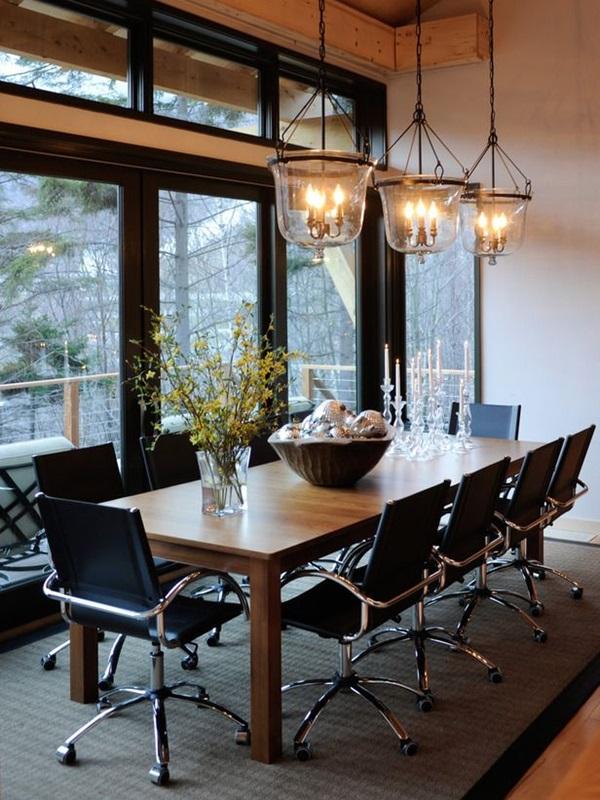 Tasteful Dining Room Lighting  (16)