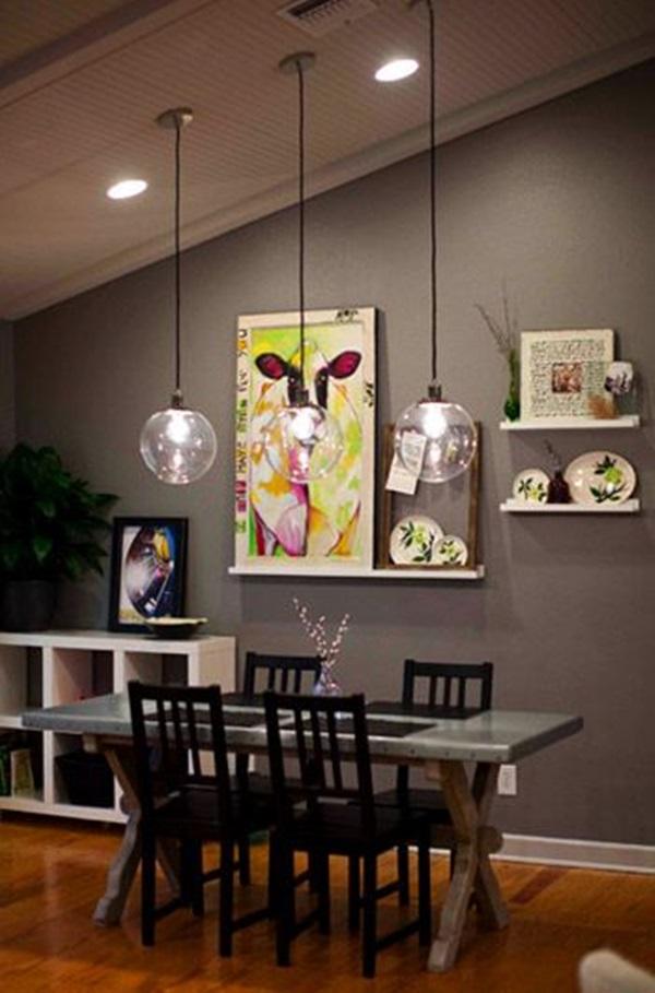 Tasteful Dining Room Lighting  (2)