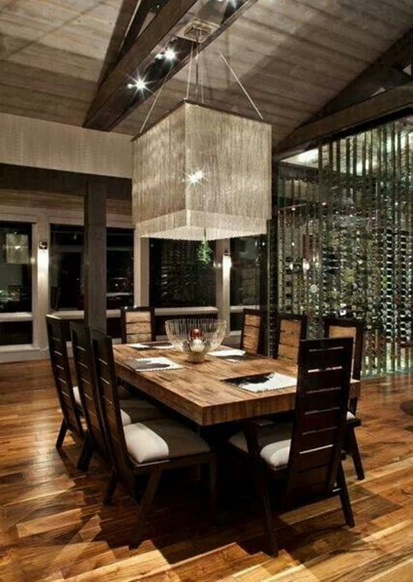 Tasteful Dining Room Lighting  (20)