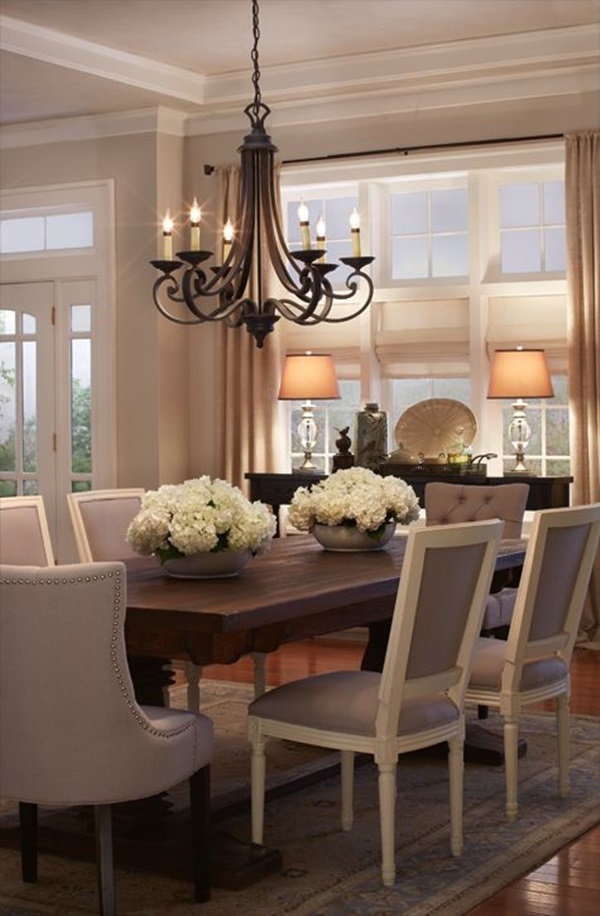 Tasteful Dining Room Lighting  (25)