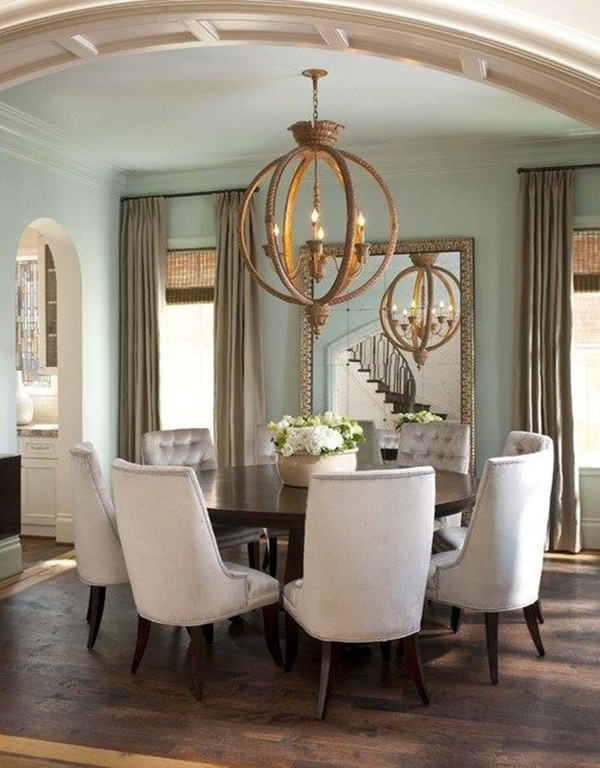 Tasteful Dining Room Lighting  (8)