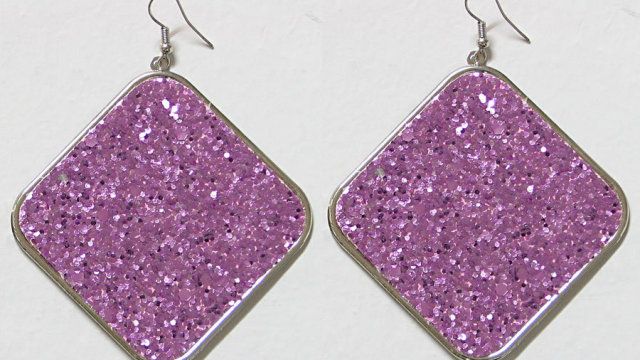 old earrings glitter 1