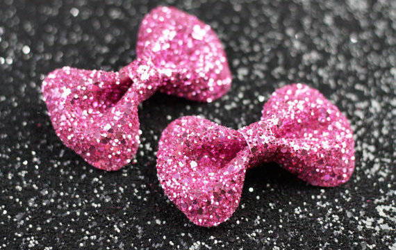 old hair clips glitter 3