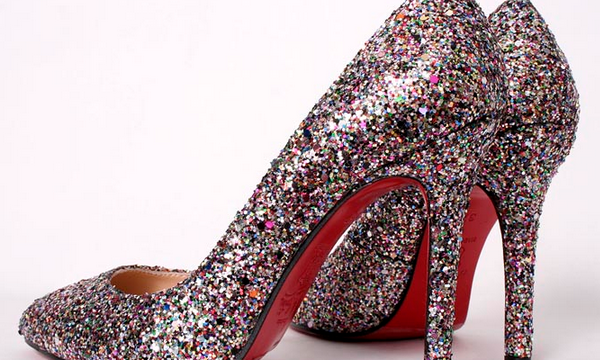 old shoes glitter  7