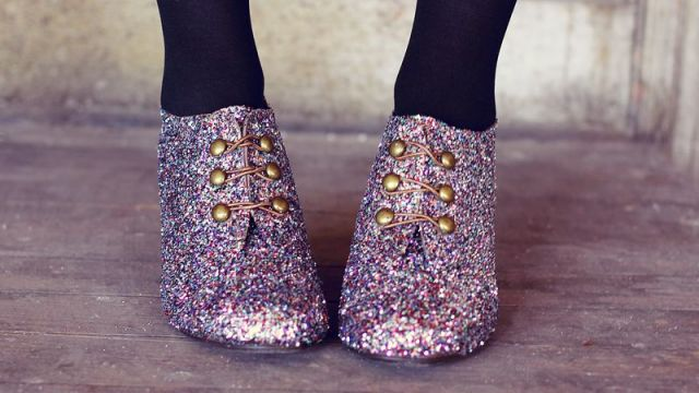 old shoes glitter 8