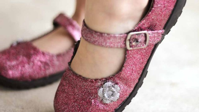old shoes glitter 9